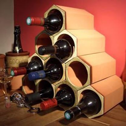 Picture of Wine Rack 10-Set Ochre Glazed