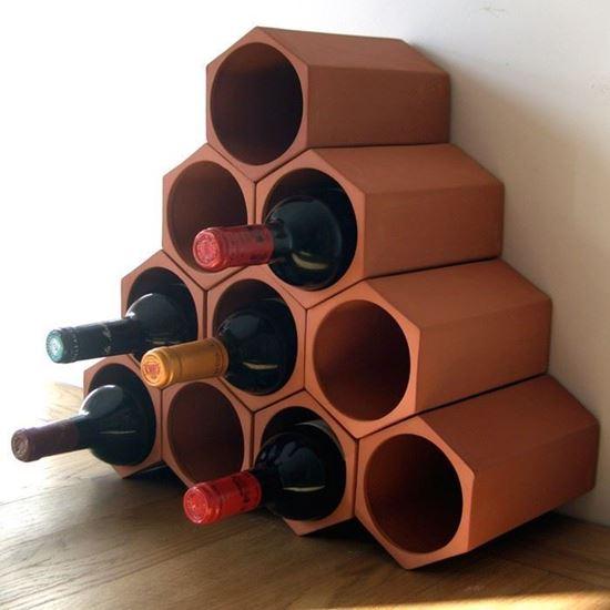 Terracotta Wine Rack Set Of 10 Weston Mill Pottery Uk