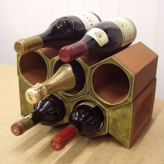 Picture of Terracotta Wine Rack - 7 Bottle Keystone Set Olive