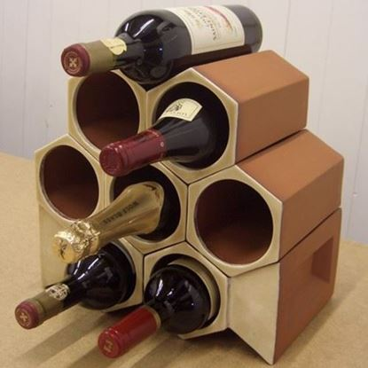 Picture of Wine Rack Keystone 8 Bottle Set Ochre