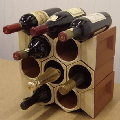 Picture of Terracotta Wine Rack - 10 Bottle Keystone Set - Ochre