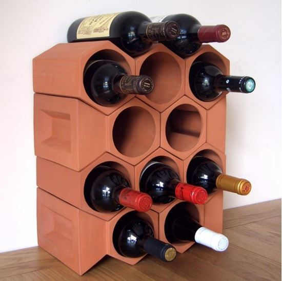 Picture of Terracotta Wine Rack - 12 Bottle Keystone Set