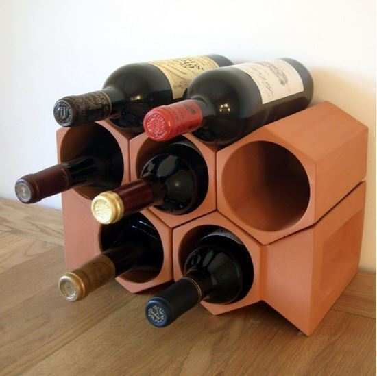 Picture of Terracotta Wine Rack - 7 Bottle Keystone Set
