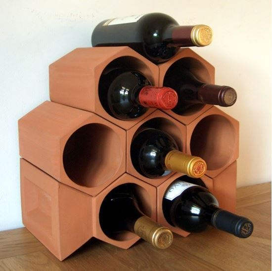 Picture of Terracotta Wine Rack - 8 Bottle Keystone Set
