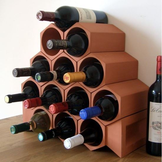 Picture of Terracotta Wine Rack 13 Bottle Keystone Set