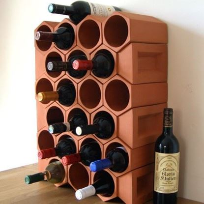 Picture of Terracotta Wine Rack - 24 Bottle Keystone Set