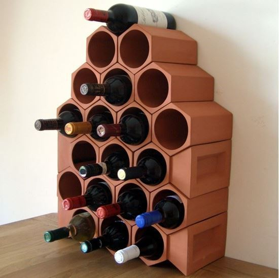 Picture of Terracotta Wine Rack - 20 Bottle Keystone Set