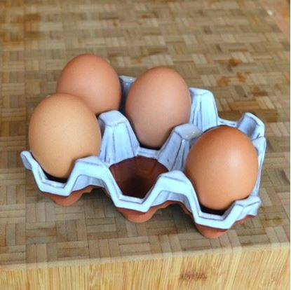Picture of Egg Holder (6) Translucent White Glazed