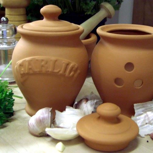 Best Wine Coolers >> Garlic Pot Storage | Weston Mill Pottery UK