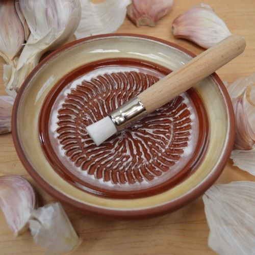Garlic Grater Ochre Glazed Weston Mill Pottery Uk