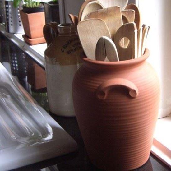 Picture of Terracotta Panella Utensil Jar