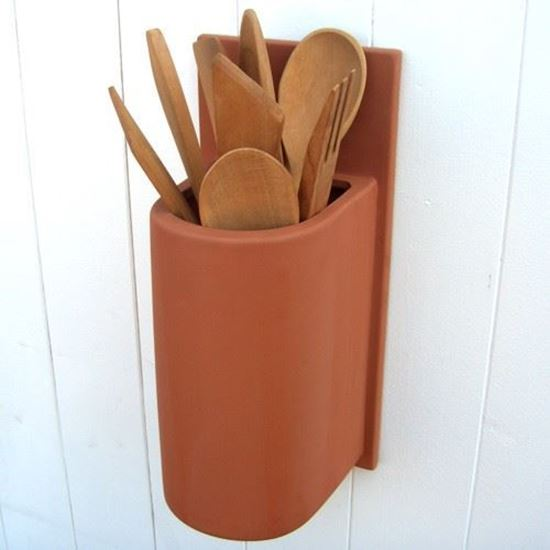 Picture of Terracotta Wall Mounted Utensil Jar
