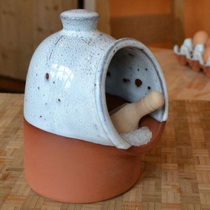 Picture of Salt Pig - Oyster Glaze