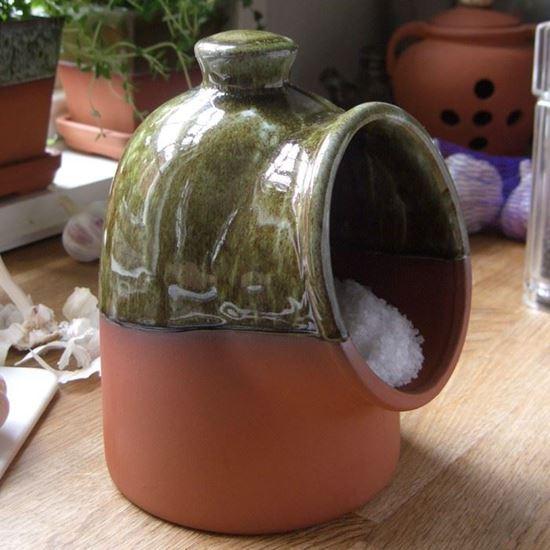 Picture of Salt Pig - Apple glaze