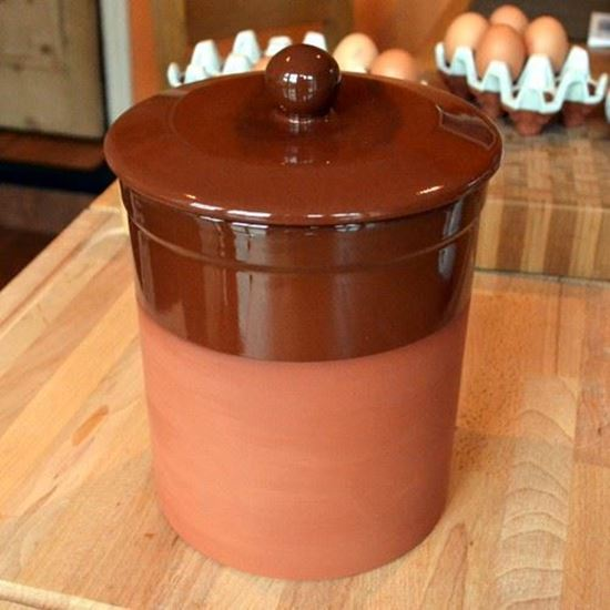 Picture of Storage Pot - Brown Glaze