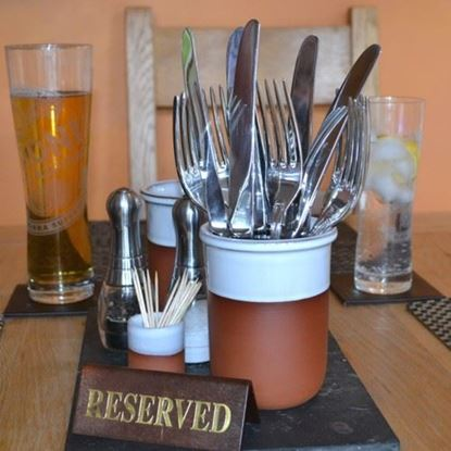 Picture of Cutlery Pots With White Glaze