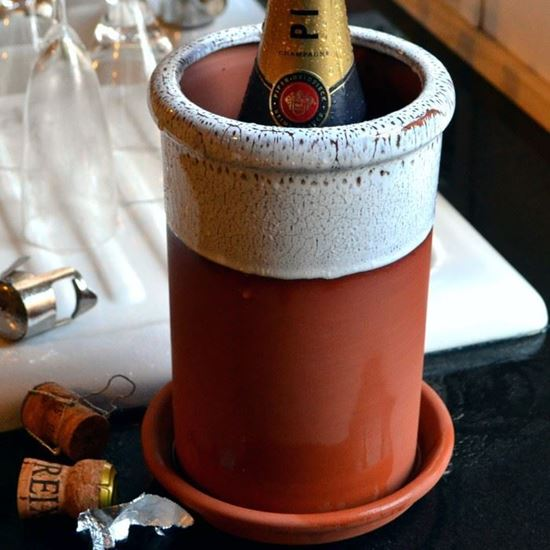 Picture of Wine Cooler Round With Oyster Glaze