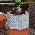 Picture of Hexagonal Terracotta Wine Cooler - Turquoise Glaze