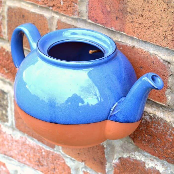 Teapot Wall Pot (Blue) | Weston Mill Pottery UK