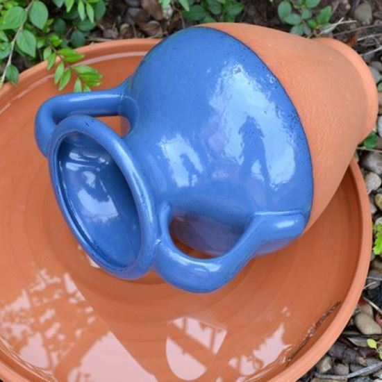 Picture of Water Feature Pot - Amphora With Blue Glaze