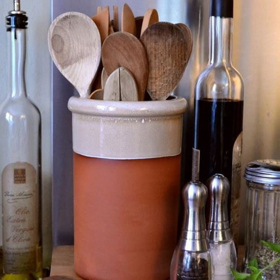 Picture of Utensil Pot - Round With Mushroom Glaze