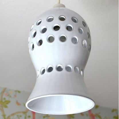 Picture of Pierced Ceiling Pendant Shade - Rustic White Glaze