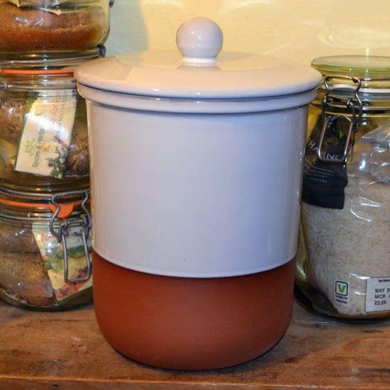 Picture of Storage Pot -  White Glaze (25cm)