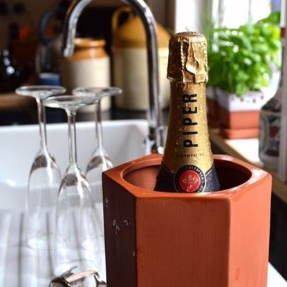 Picture of Large Hexagonal Terracotta Wine Cooler