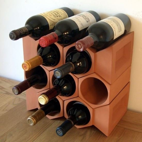 Picture of Terracotta Wine Rack - 10 Bottle Keystone Set