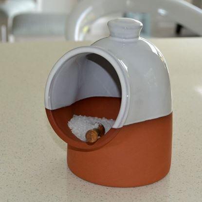 Picture of  Salt Pig - White Glaze