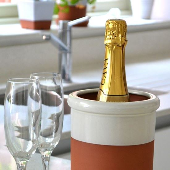 Picture of Wine Cooler Round With Cream Glaze