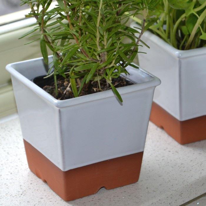 Windowsill Herb Pot - White