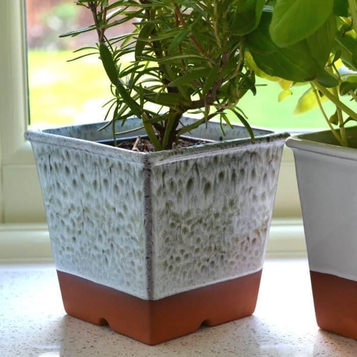 Windowsill Herb Pot - Turquoise