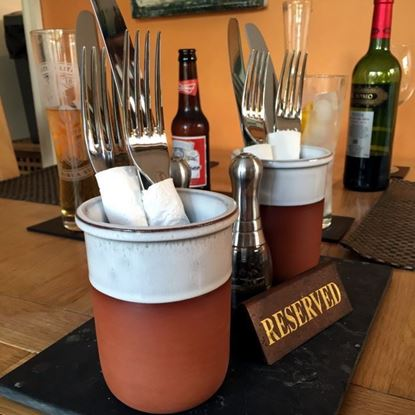 Picture of Cutlery Pot With Oyster Glaze