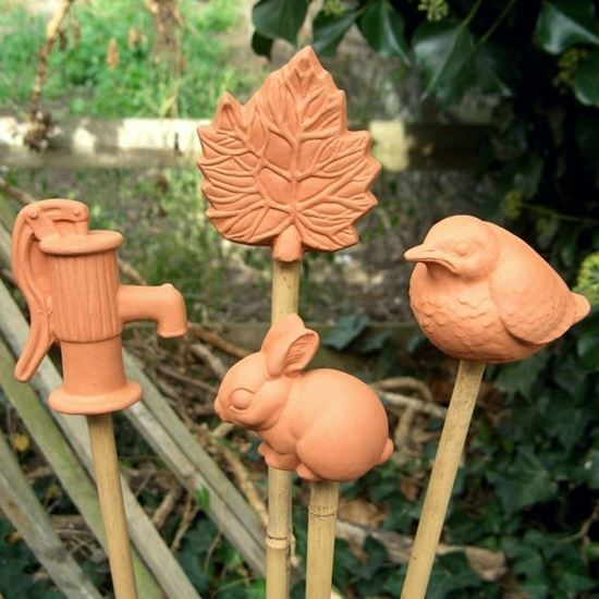 Mixed Cane Toppers Set Of 4 Weston Mill Pottery Uk