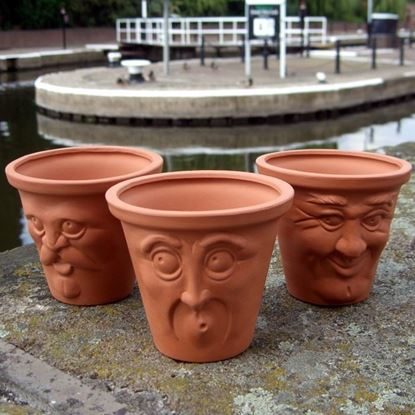 Picture of Terracotta Facepots (Set of 3)