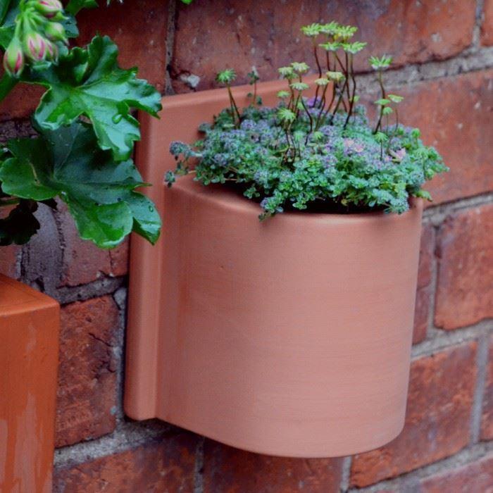 Small Herb Wall Pots Weston Mill Pottery Uk