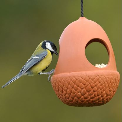 Bird water station weston mill pottery uk for Acorn feeder