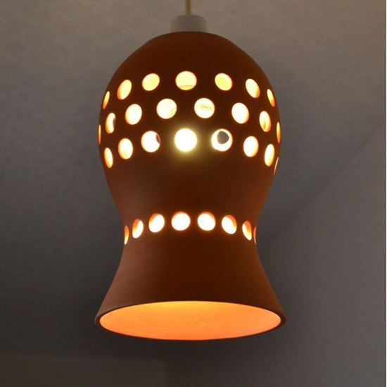 Picture of Pierced Pendant Shade - Terracotta