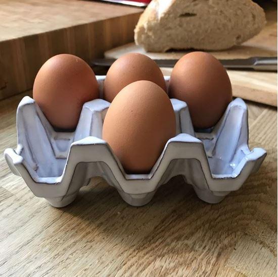 Picture of Egg Holder (6) Translucent White Full Glaze