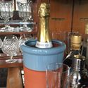Picture of Wine Cooler Round With Pale Blue Glaze
