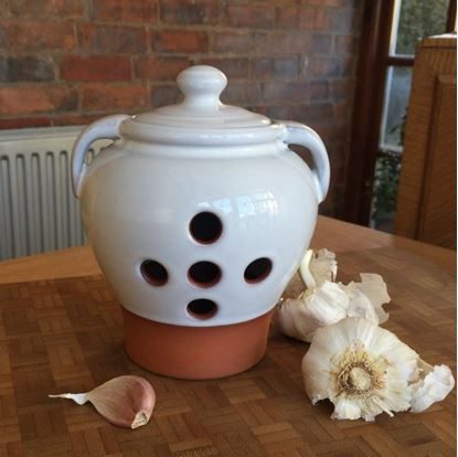 Picture of Garlic Pot Large - with Translucent White Glaze