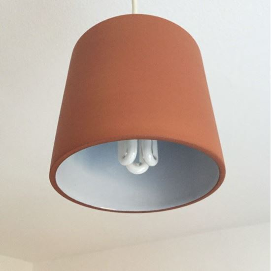 Picture of Chamfered Pendant Light Shade - Terracotta